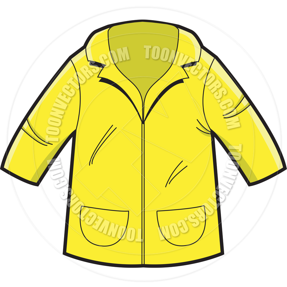 Yellow Rain Coat By Kenbenner   Toon Vectors Eps  6057