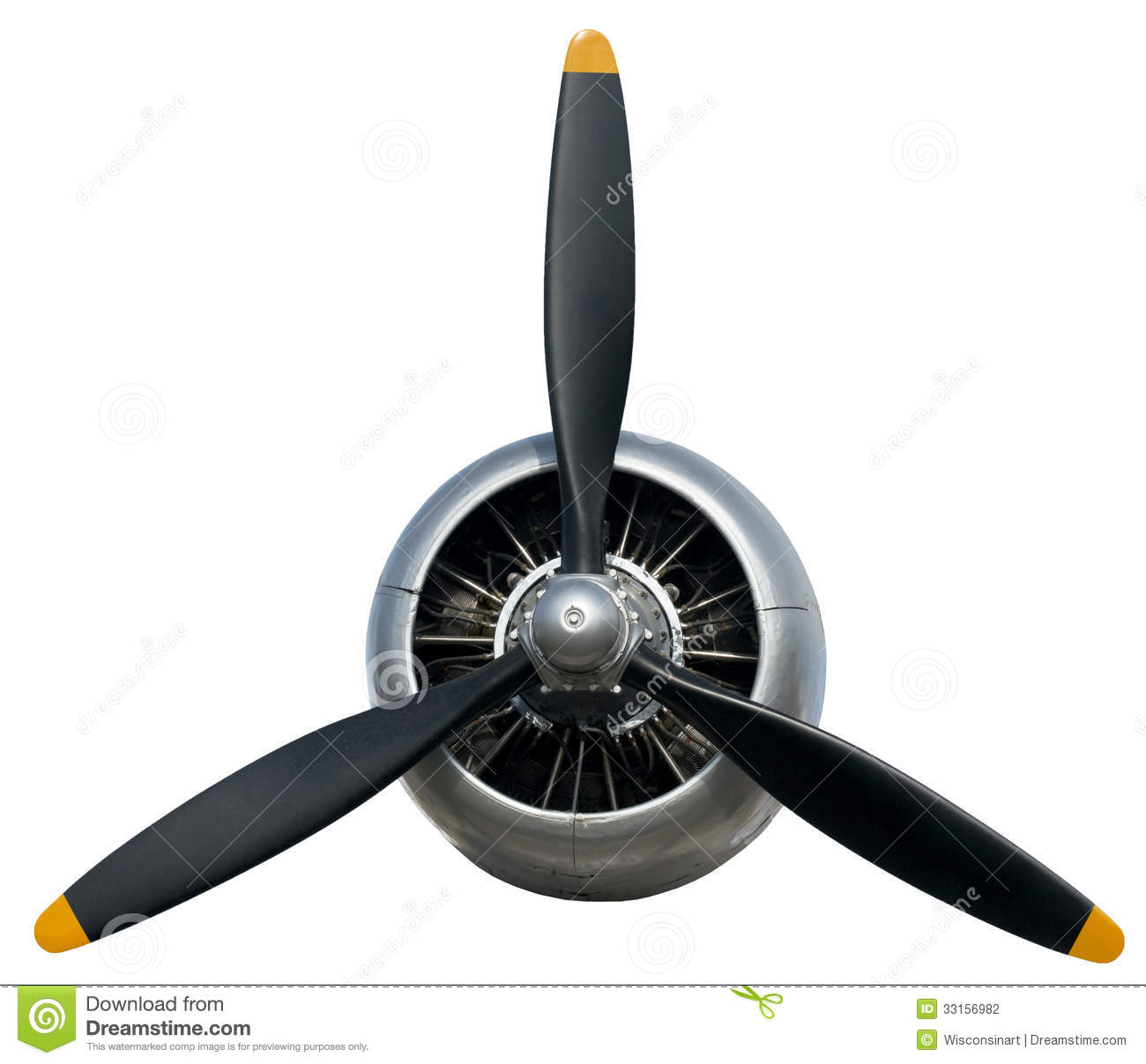 Airplane Propeller Isolated On White Image Can Be Used As A Concept