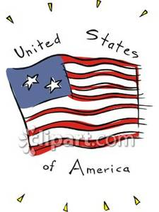 And The Words United States Of America   Royalty Free Clipart Picture