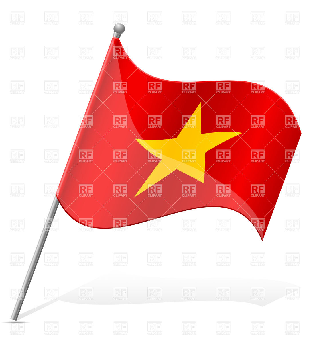 Flag Of Vietnam 38601 Download Royalty Free Vector Clipart  Eps