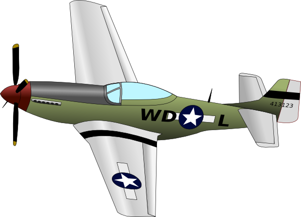 Plane With Propeller Clip Art At Clker Com   Vector Clip Art Online