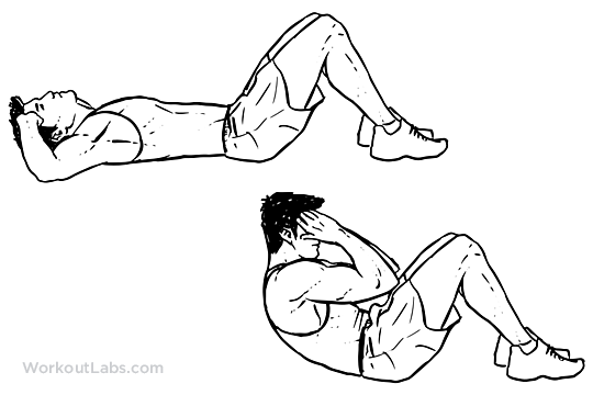 Sit-ups Clipart - Clipart Kid