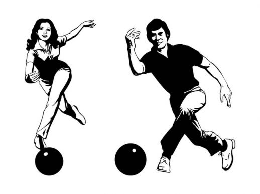 Smiling Bowling Players Vector