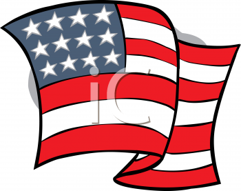 United States Of America Flag   Royalty Free Clipart Image