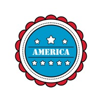 United States Of America Logo Design Vector Clipart   1538917   Stock