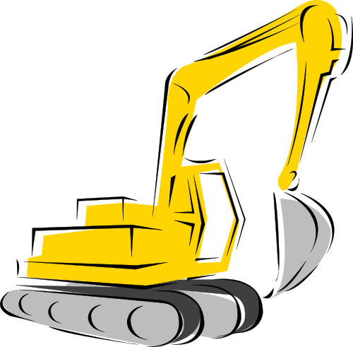 Backhoe Clipart Vector Images   Pictures   Becuo
