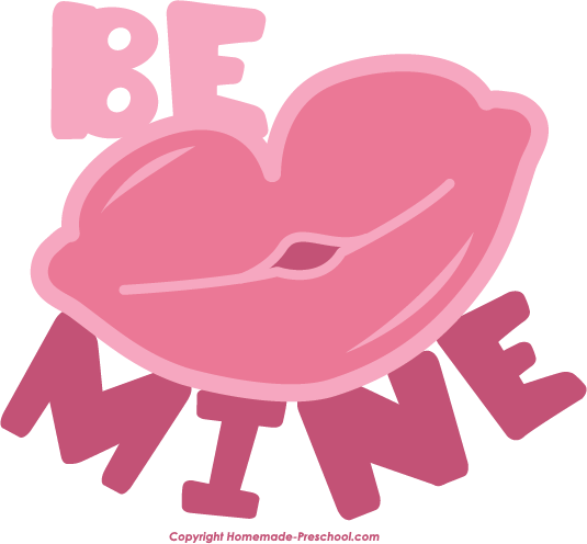 Home Free Clipart Free Valentine S Clipart Be Mine Lips