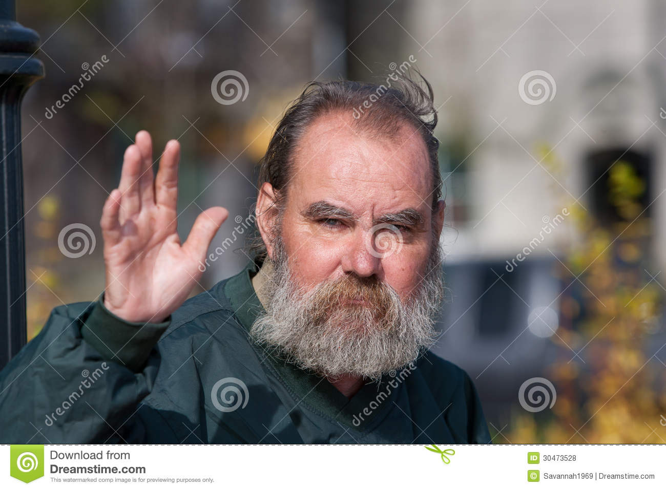 Homeless Man Waving Royalty Free Stock Photos   Image  30473528