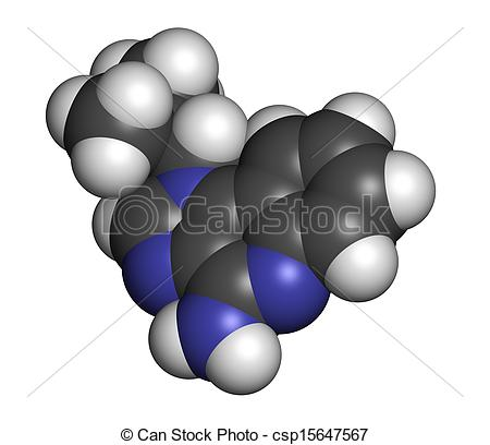 Illustration   Imiquimod Topical Skin Cancer Drug Chemical Structure