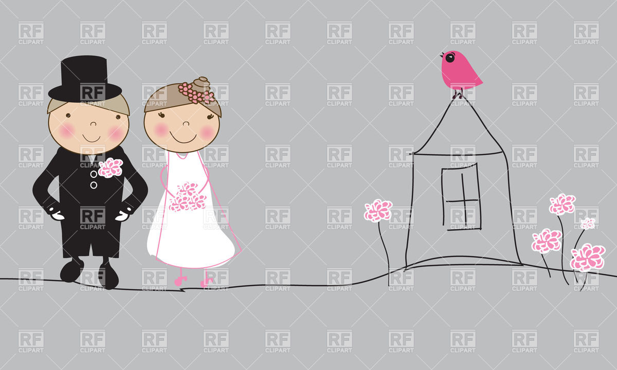 Just Married Couple 23981 Download Royalty Free Vector Clipart  Eps