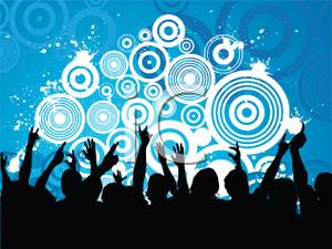 Of An Audience Of People At A Concert   Royalty Free Clipart Picture