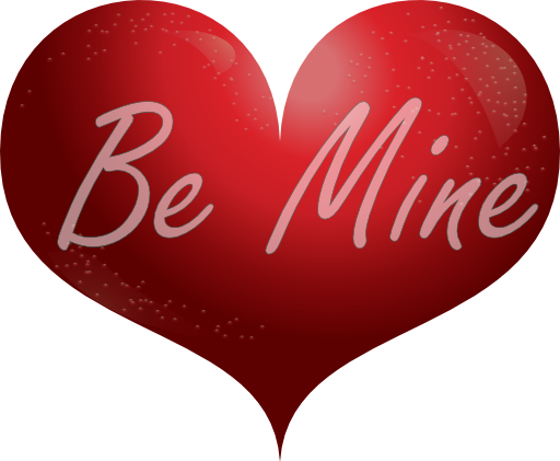 Red Heart Be Mine Smiley Clipart   Royalty Free Public Domain Clipart