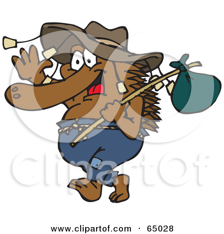 Royalty Free  Rf  Clipart Illustration Of A Wanderer Man Covered In