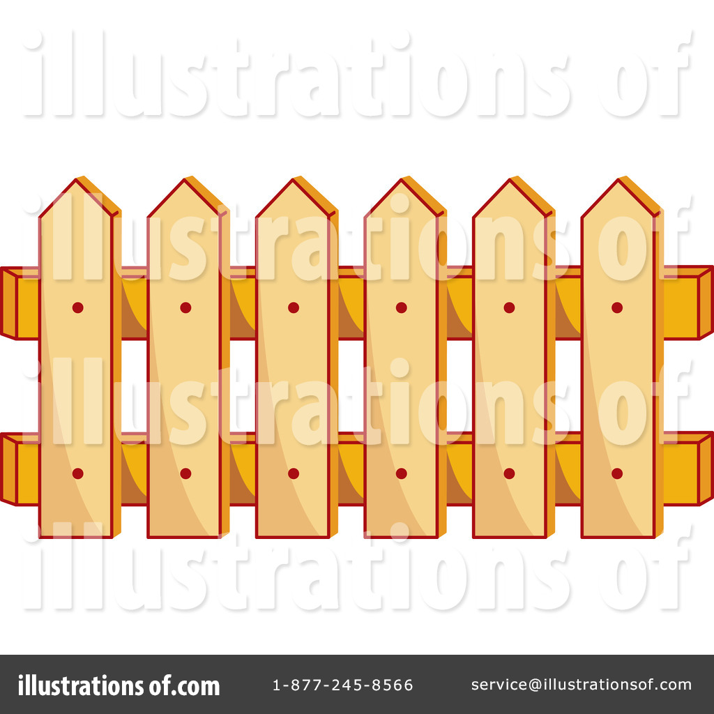 Royalty Free  Rf  Fence Clipart Illustration By Cherie Reve   Stock