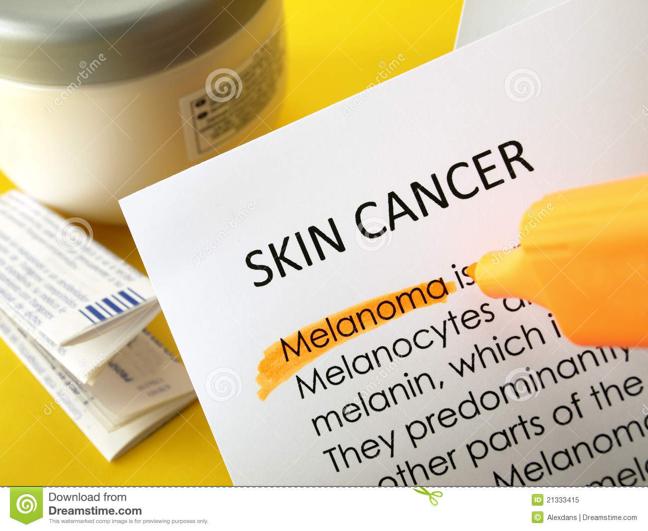 Skin Cancer Treatments Royalty Free Stock Photo   Image  21333415
