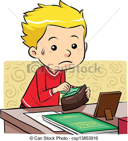 Stealing Money In His Father Wallet    Csp13853916   Search Clipart