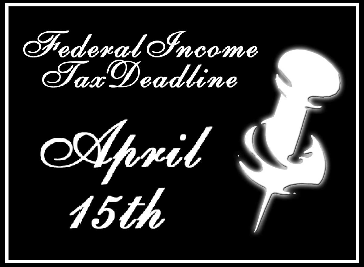 Tax Day Clipart Federal Income Tax Deadline