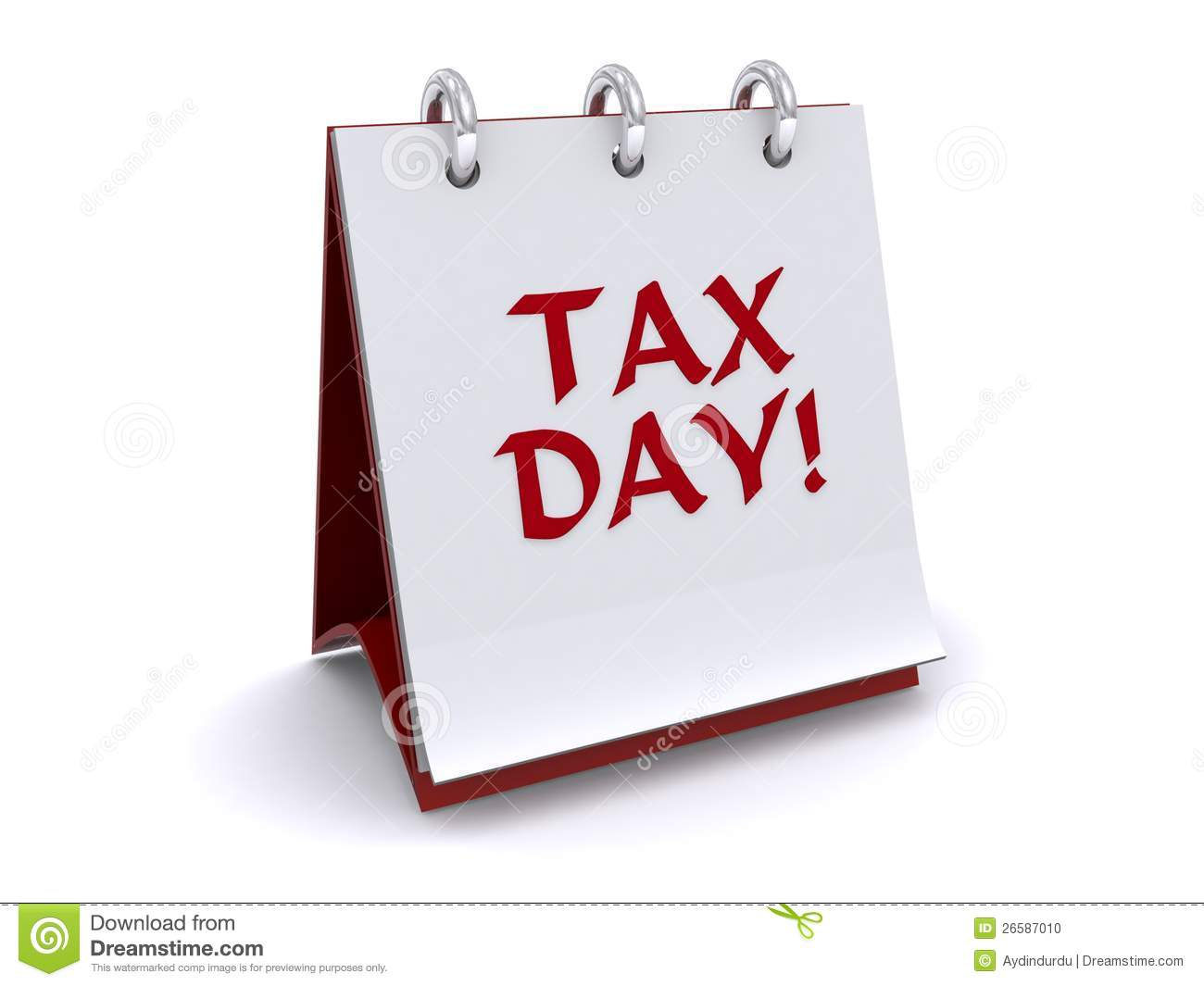 Tax Day Clipart Flip Book