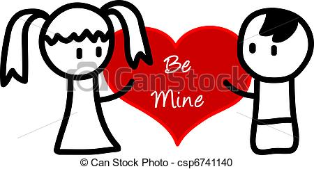Vector Clipart Of Be Mine   Be Mine Csp6741140   Search Clip Art