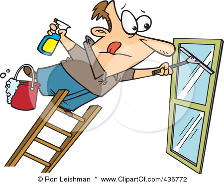 436772 Royalty Free Rf Clipart Illustration Of A Window Cleaner