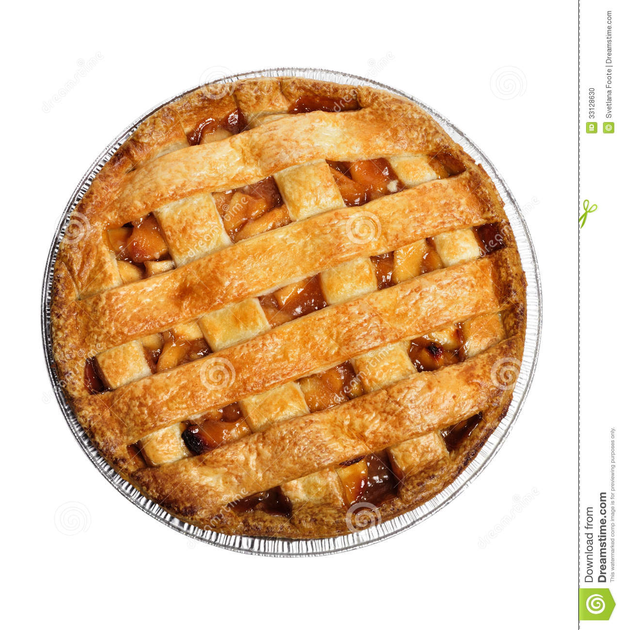 Circle Shaped Food Whole Pie Top V...