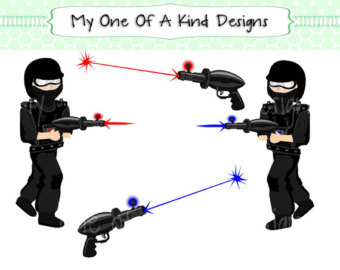 Art Laser Tag Boy Laze R Birthday Red Blue 4 Digital Images Clipart