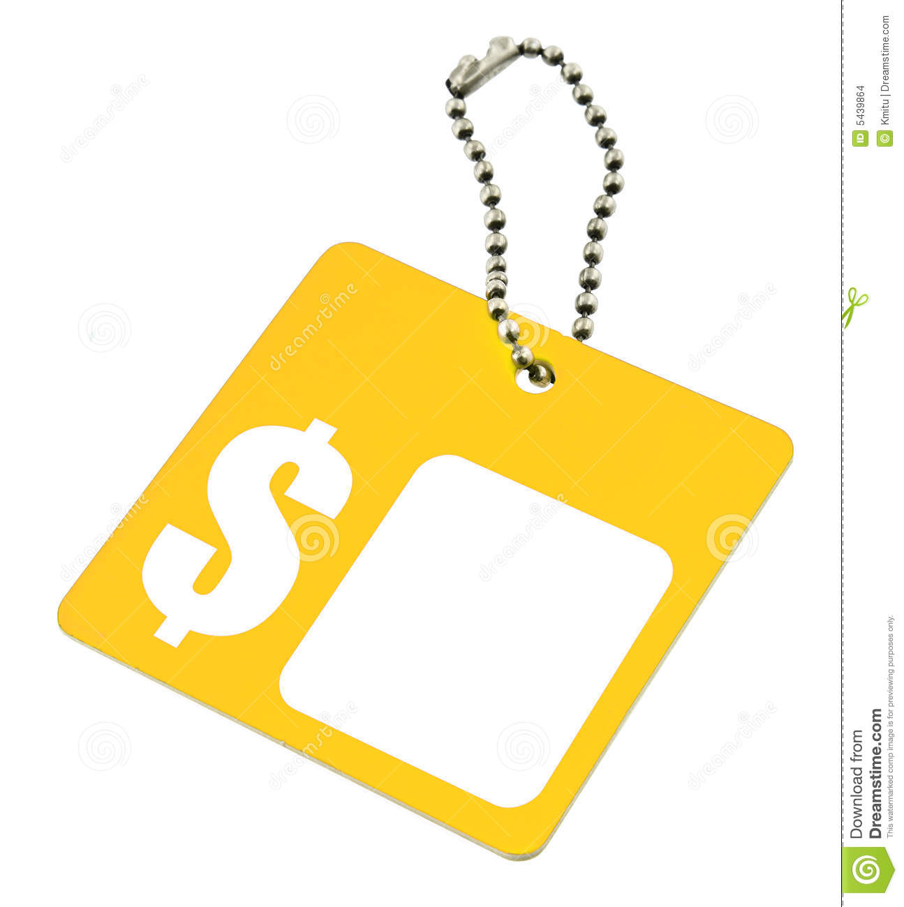Blank Dollar Price Tag Stock Images   Image  5439864