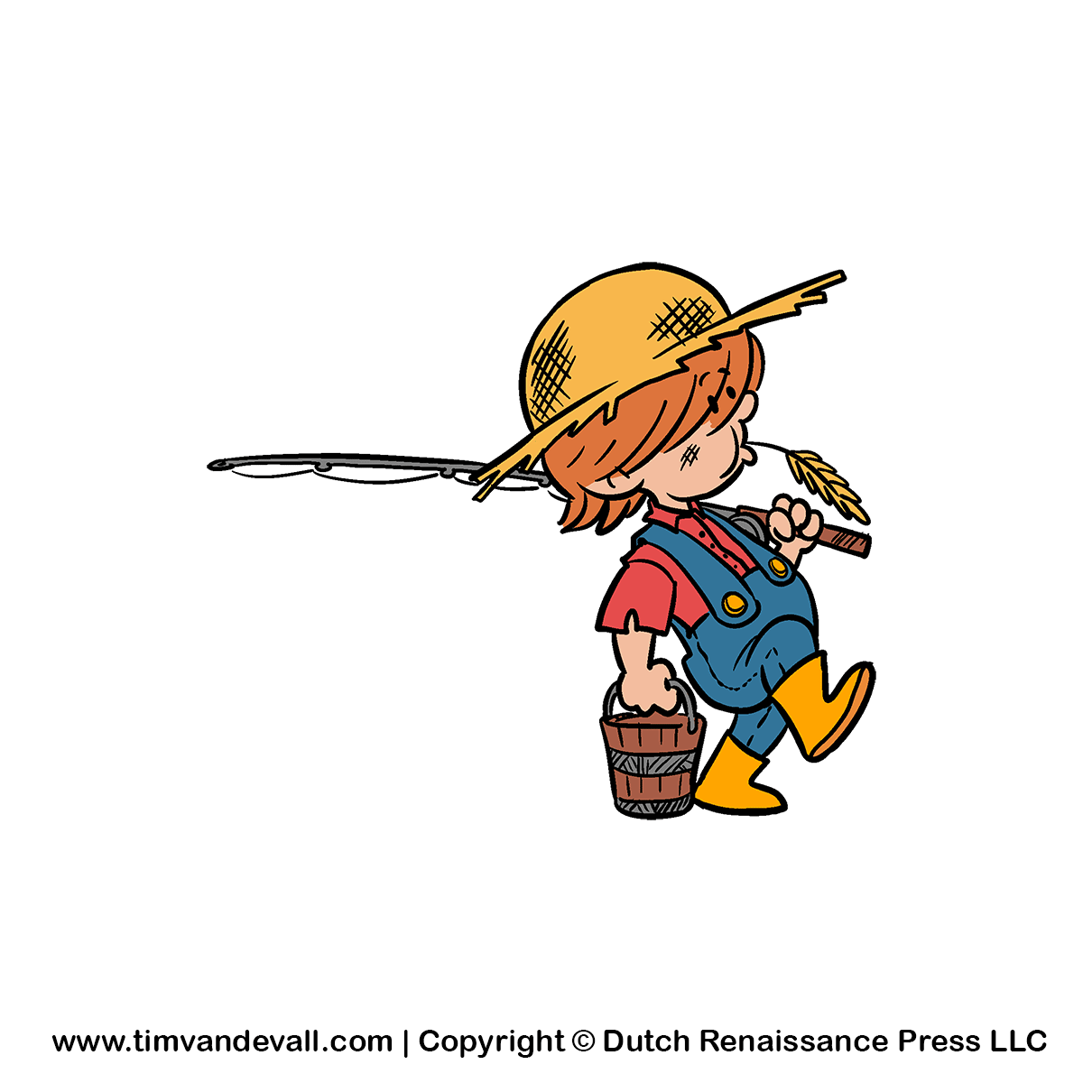 Cartoon Farm Boy Clipart For Kids   Free Learning Materials