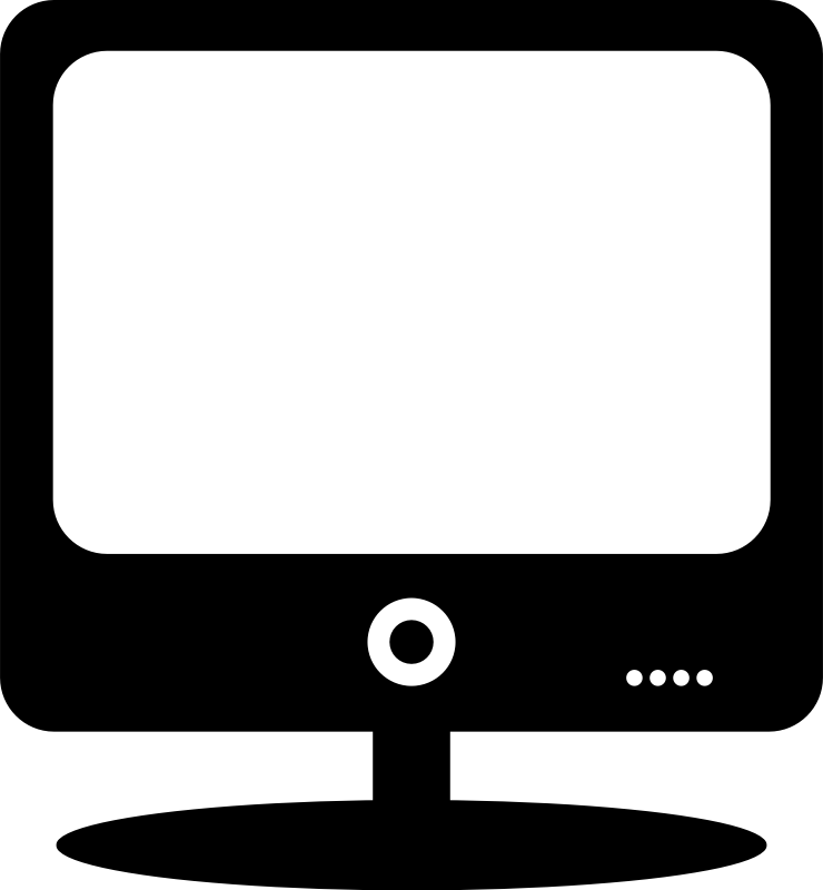 Computer Monitor By Ousia   Computer Monitor Pictogram