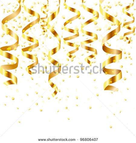 Gold Confetti Clipart - Clipart Kid