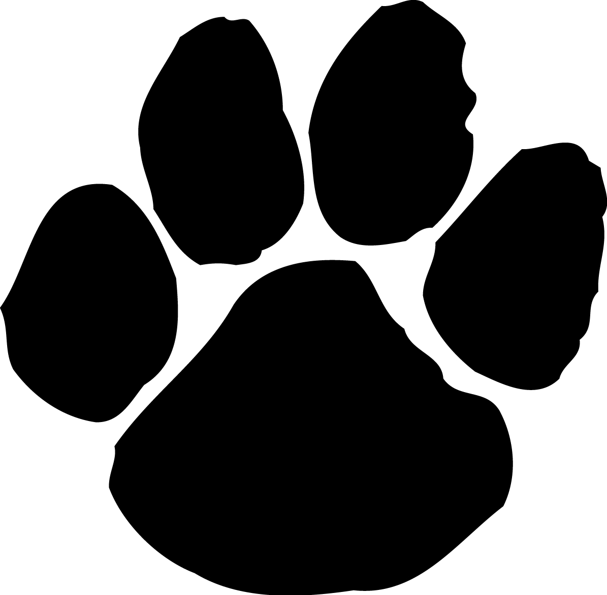 Large Paw Print Think This Could Be Used A Logo Image Or A Marker