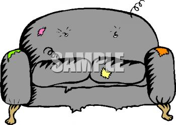 Old Couch With It S Springs   Clipart Panda   Free Clipart Images