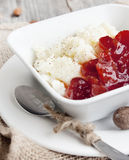 Rice Pudding With Jam Stock Images