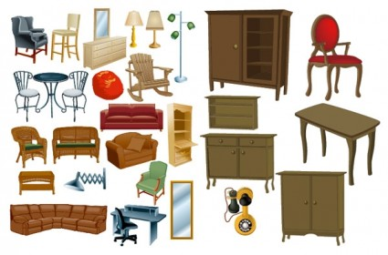 Variety Of Furniture Furniture Clip Art Vector Misc Free Vector Free