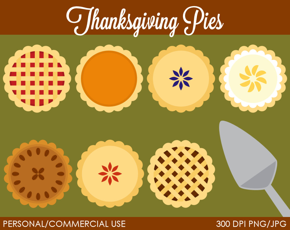 Whole Pie Clipart Thanksgiving Pies Clipart