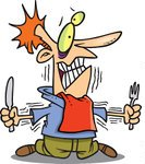 1047760 Royalty Free Rf Clip Art Illustration Of A Cartoon Hungry Man