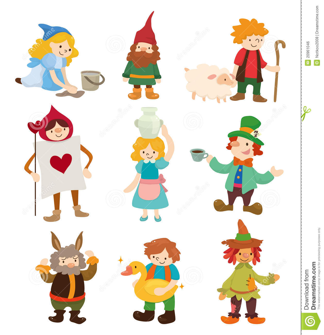Cartoon Story People Icons Royalty Free Stock Image   Image  20961046