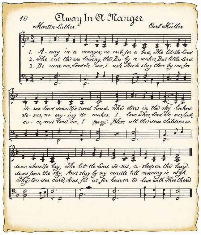 Christmas Free Vintage Looking Sheet Music And Graphics