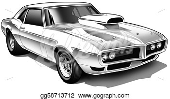 Drawing   Vintage Drag Car  Clipart Drawing Gg58713712