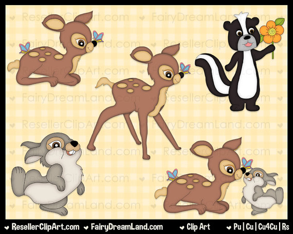 Forest Animal Friends Clip Art   Commercial Use Digital Clipart