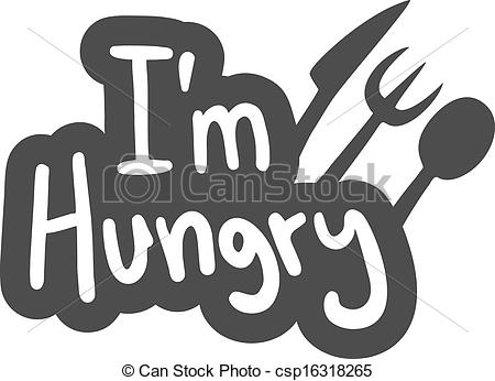 Im Hungry Clipart Vector   I M Hungry