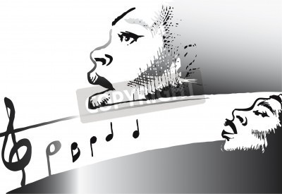 Music Series   Jazz Gospel Vector Illustration   Stockpodium   Image