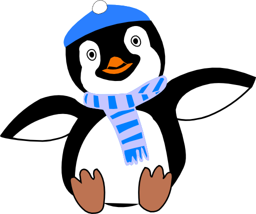 clipart panda winter - photo #10