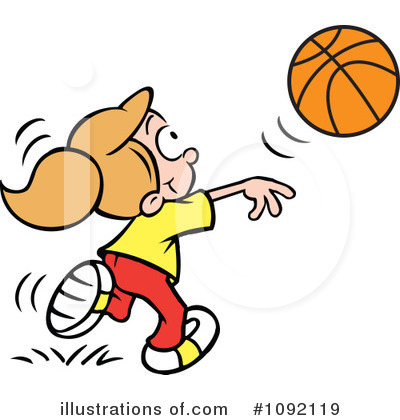 Basketball Clipart  1092119 By Johnny Sajem   Royalty Free  Rf  Stock