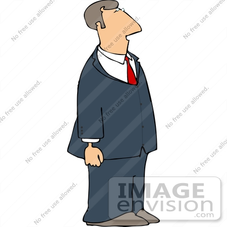 Caucasian Business Man Wearing A Suit And Tie Clipart    13086 By