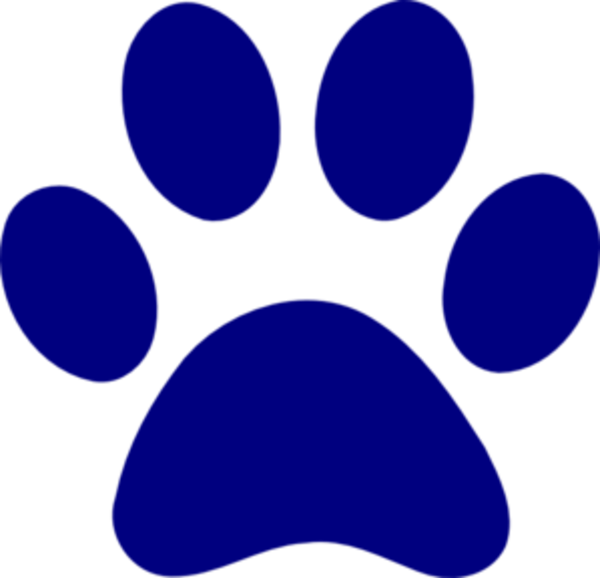 Dark Blue Paw Print Md   Free Images At Clker Com   Vector Clip Art