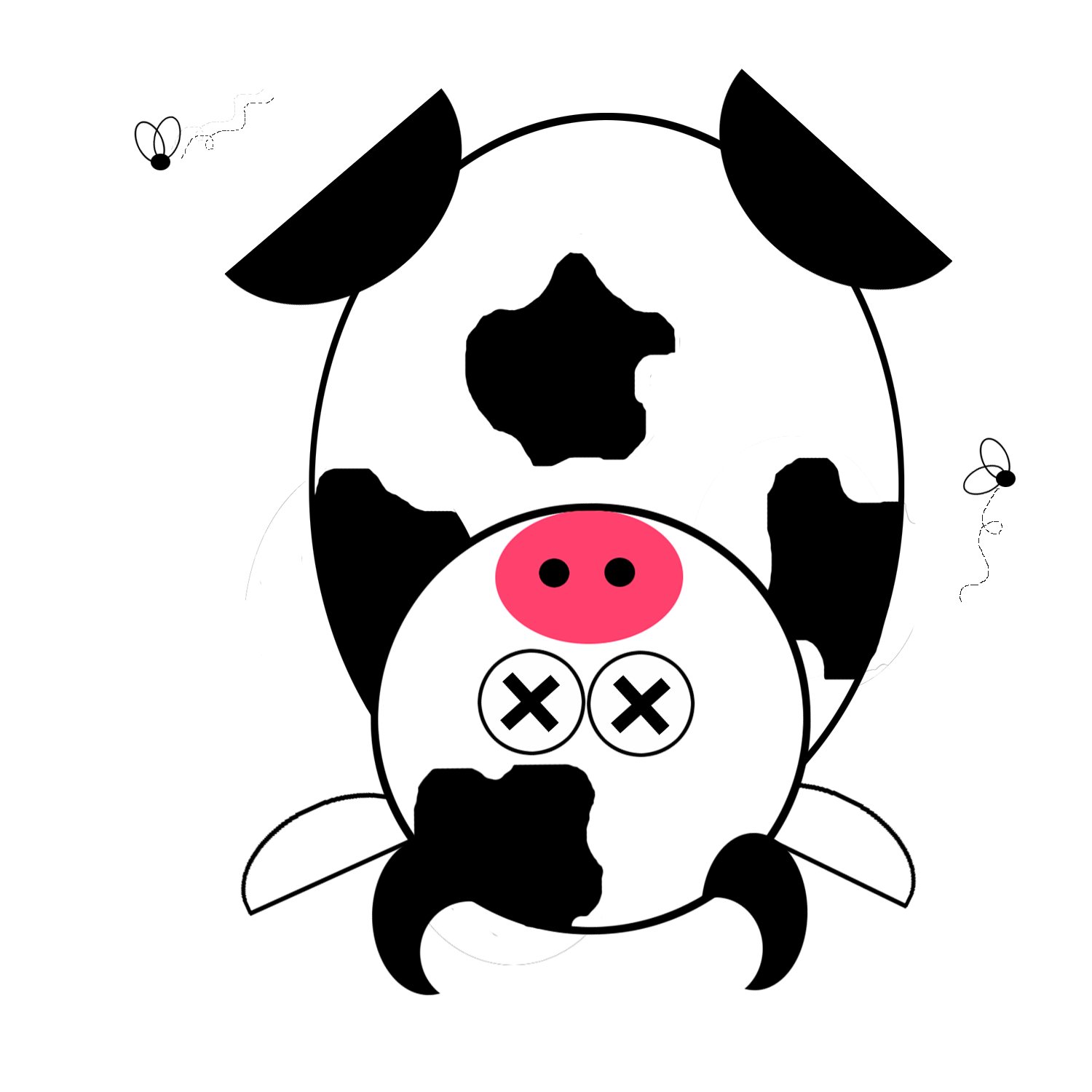 Dead Cow Cartoon   Clipart Best