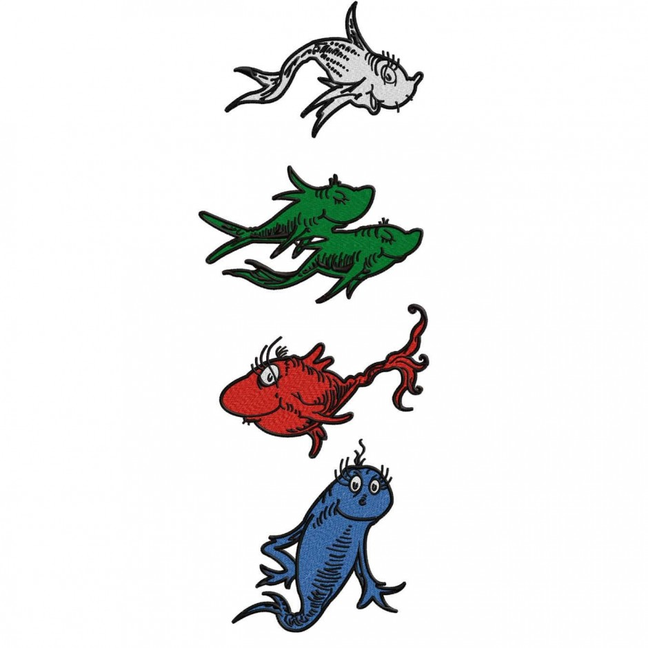 Dr seuss red fish clipart clipart suggest for Red fish blue fish dr seuss