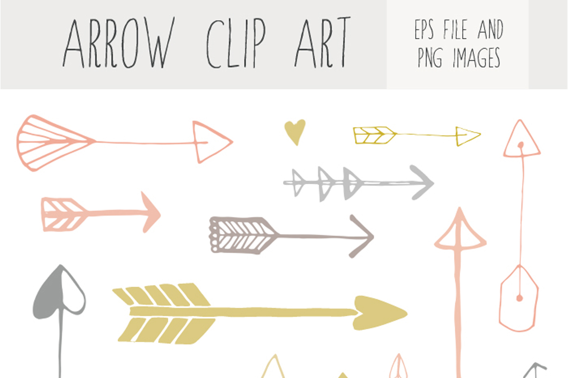 Handdrawn Arrow Clip Art   Illustrations On Creative Market