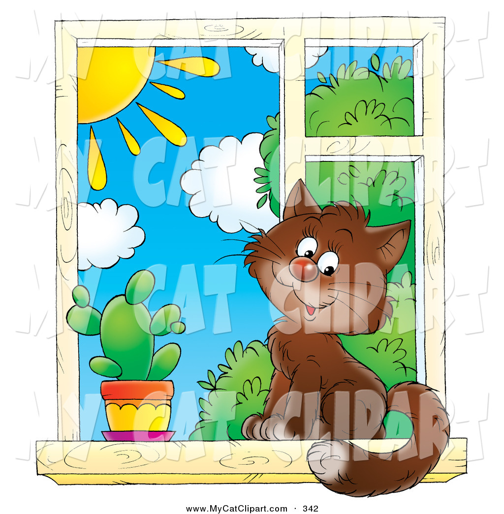 Cat In Window Clipart - Clipart Kid